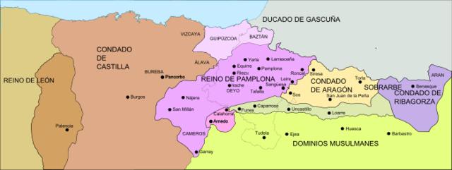 La división del reino de Pamplona