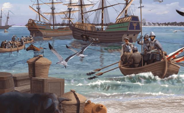 Hernando de soto llego a la bahía de Tampa