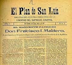 Se lanza el Plan de San Luis