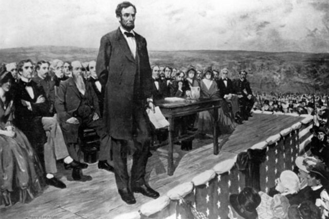 Abraham Lincoln getting elected