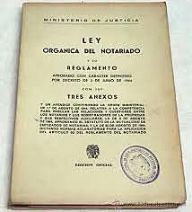 La Ley del Notariado para el Distrito Federal y Territorios de 1945