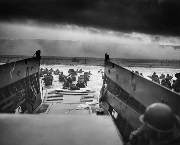 La batalla de la Normandía.