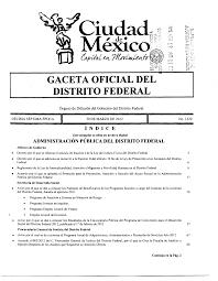 Publicación en la Gaceta Oficial del Distrito Federal la LNDF