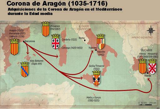Pedro IV incorpora a la corona de Aragón ducados de Atenas y Neopatria
