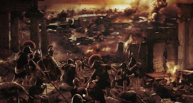 La destrucción de Cartago y Corinto