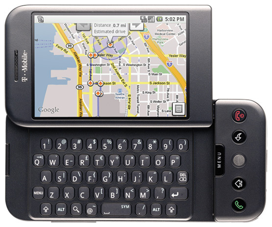 Primera versión de Android en un teléfono móvil