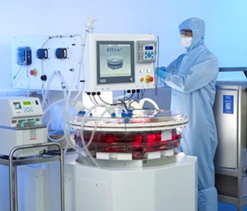Biorreactor totalmente automático que produce células madre.