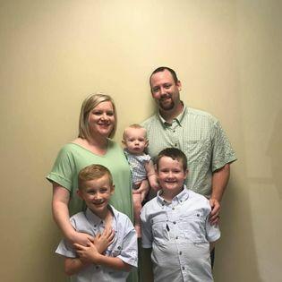 Both of my boys were baptized!