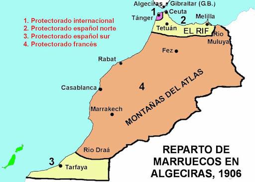 Protectorado de España y Francia sobre Marruecos (marzo)