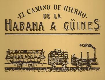 Introducción del ferrocarril en Cuba.