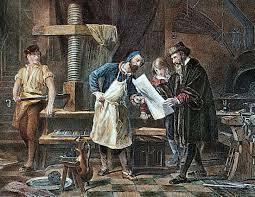Se forma la propiedad intelectual entorno a la aparición de imprenta.