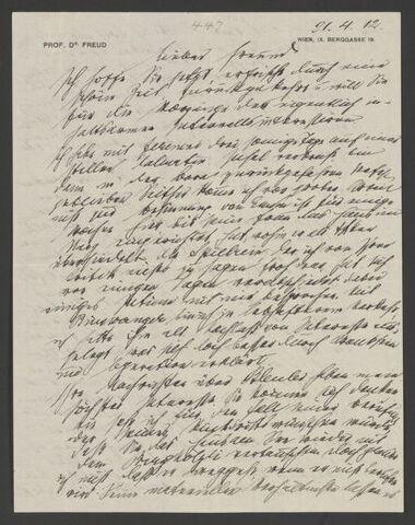 Carta de Freud para Jung (17/09)