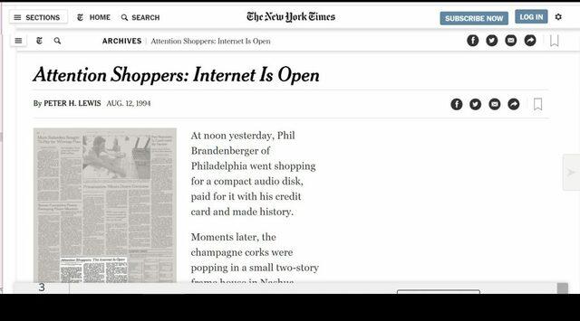 """""""ATTENTION SHOPPER: INTERNET IS OPEN"""""""