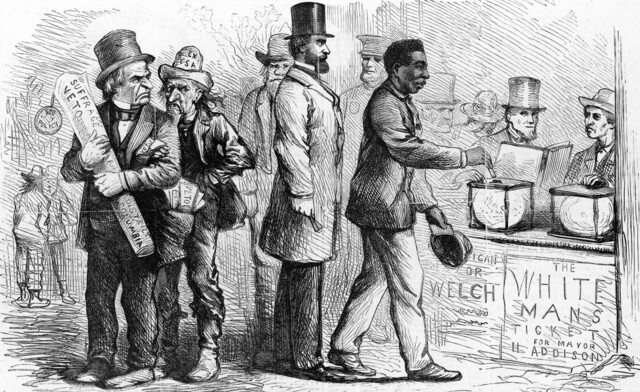 Fifteenth Amendment ratified : granting all male citizens the right to vote