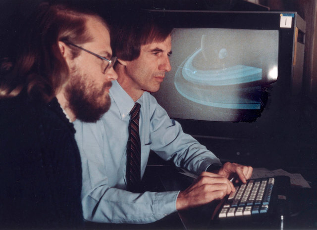 Edwin Catmuff y James Blinn