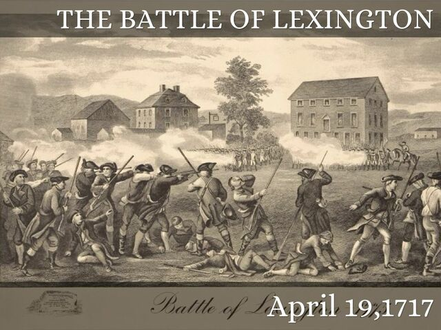 The Battle of Lexington and Concord (The link in the description is the description for this part of the timeline)