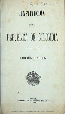 educación en la Constitución Política de 1886