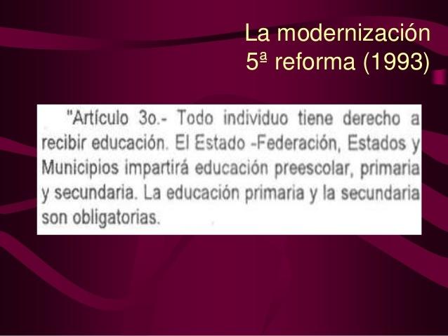 Modificación del Art. 3º de la Constitución