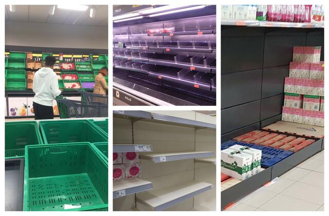 Desabasteciendo en los supermercados