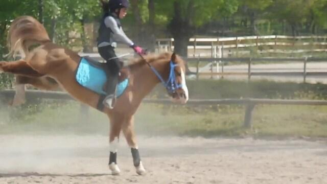 Accidente montando a caballo