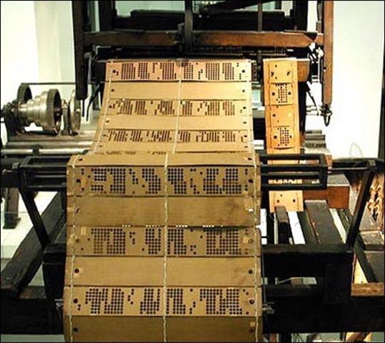 ткацкий станок Жозефа Мари Жаккара, изобретение перфокарты.