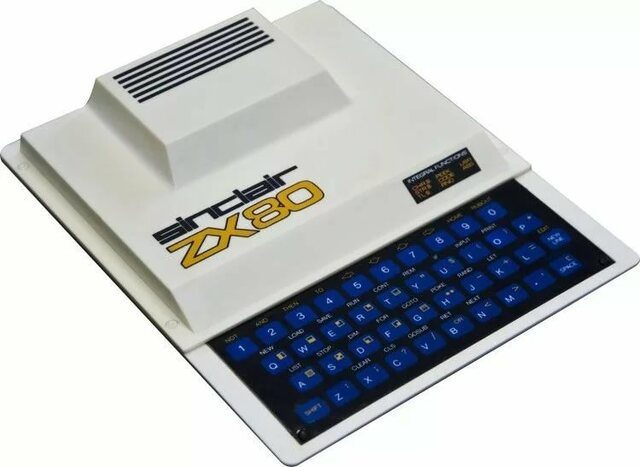 В 1980 году выпущен в продажу Sinclair ZX80 — первый персональный компьютер для домашнего применения ценой менее 100 английских фунтов.
