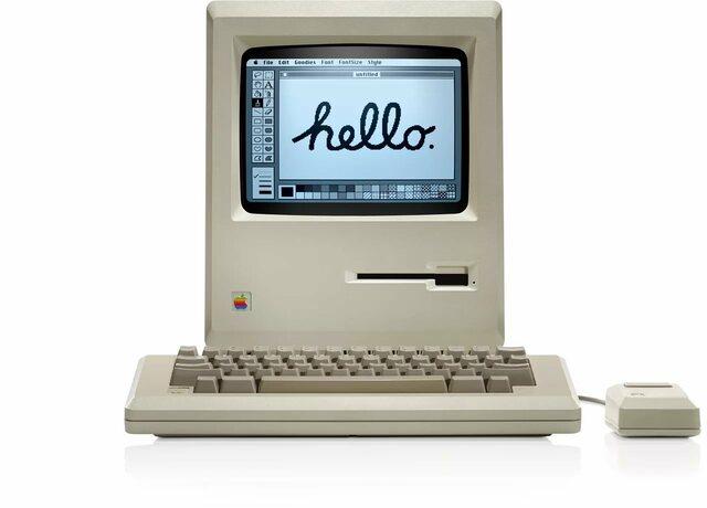 В январе 1984 года — первый успешный серийно выпускаемый персональный компьютер