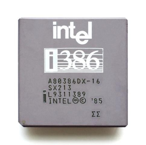 Intel выпустила первый 32-битный центральный процессор Intel 80386.