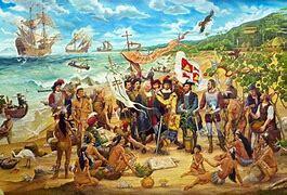 Colón en su Segundo Viaje  América