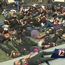 """Students """"Die in"""" at the Popp Martin Student Union"""