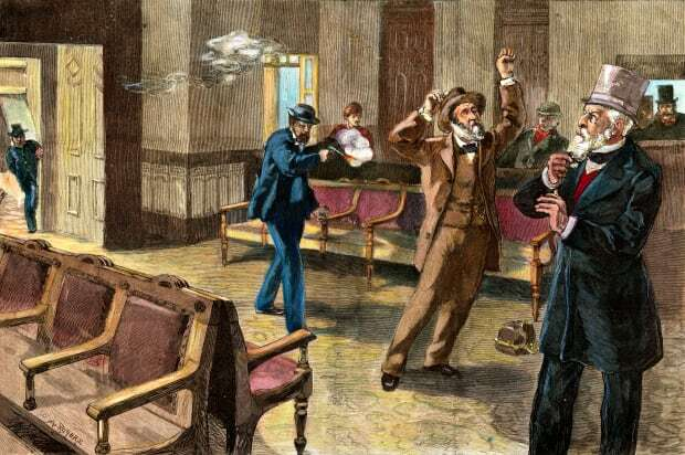 President James A. Garfield is assassinated.