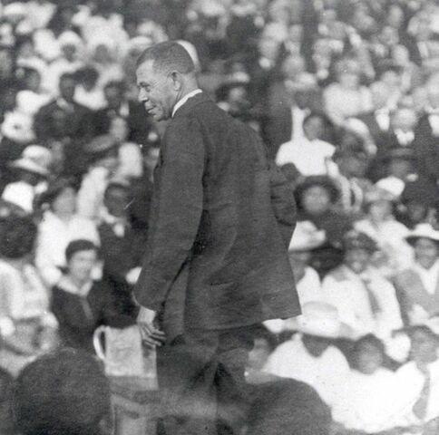 Booker T. Washington delivers his Atlanta Compromise speech.