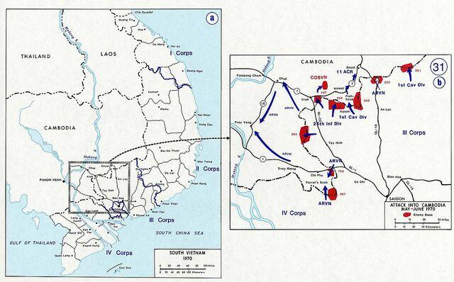 •Invasion of Cambodia (1970)