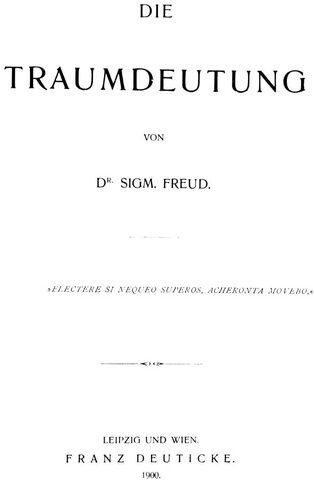 """Se publica """"La interpretación de los sueños"""" por Freud."""