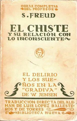 """Freud publica """"El chiste y su relacíon con lo inconsciente"""""""