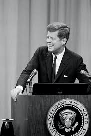 "JFK gives the ""New Frontier"" speech"