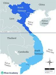 •	Vietnam Independence but Country Split at 17th Parallel (1954)
