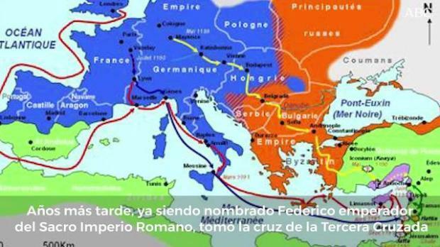 FEDERICO I de Hohenstaufen; Ravensburg, Alemania, 1122  Emperador del Sacro del ducado suabo en 1147, año en que participó en la Segunda Cruzada junto a su tío, el emperador Conrado III, quien lo nombró heredero.
