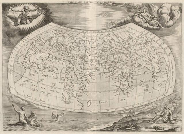 Carte de Ptolémée-édition Mercator