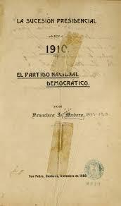 Libro La sucesión presidencial de 1910.