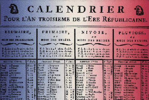 Nascita del Calendario Repubblicano