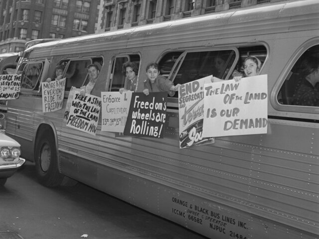 The Freedom Rides by Freedom Riders of 1961