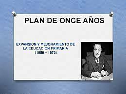 Planeación de la educación básica y general 1959-1992.