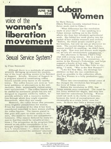 Several Feminist Publications Emerge