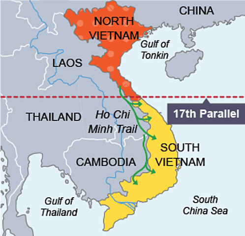 Vietnam Independence but Country Split at 17th Parallel