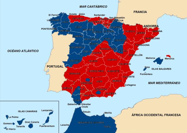 Els nacionals controlen la zona espanyola del marroc.
