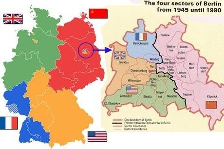 La Germania viene divisa in due