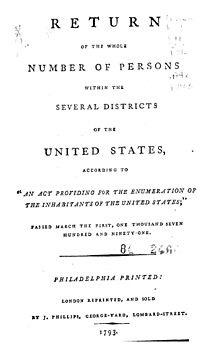 1st U.S. Census