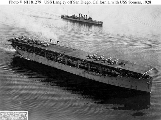 First American Aircraft Carrier Commissioned.