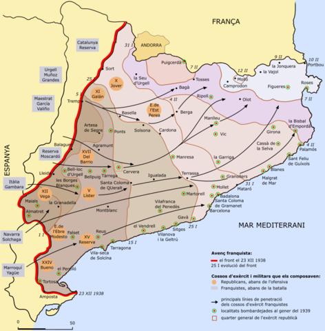 Ofensiva de l'exèrcit franquista a Catalunya